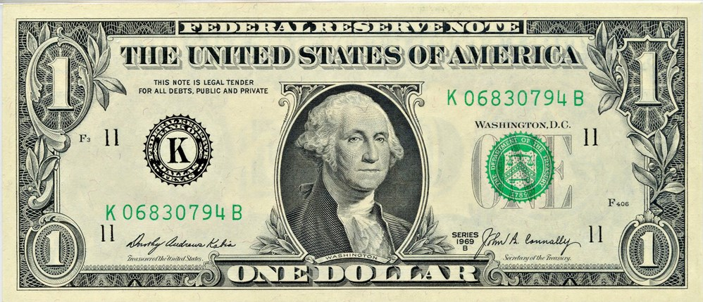 sample image for 1969B $1  Dallas (Fr.# 1905K)