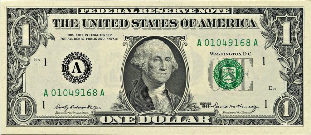 sample image for 1969 $1  Boston (Fr.# 1903A)