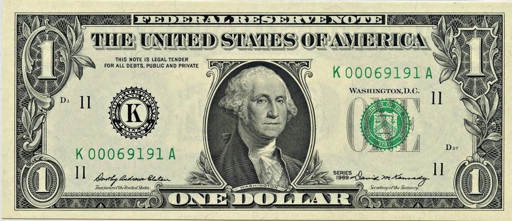 sample image for 1969 $1  Dallas (Fr.# 1903K)