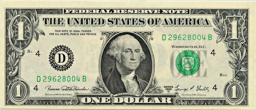 sample image for 1969D $1  Cleveland (Fr.# 1907D)