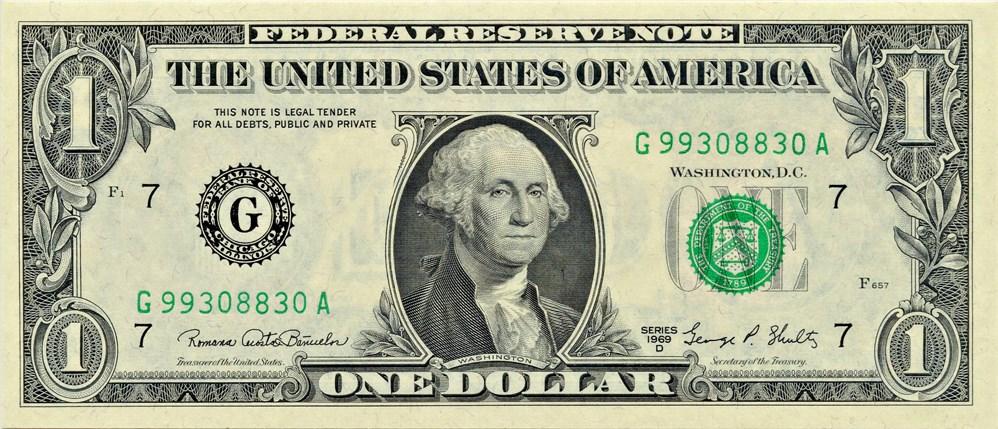 sample image for 1969D $1  Chicago (Fr.# 1907G)