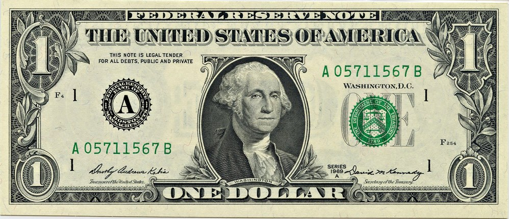 sample image for 1969A $1  Boston (Fr.# 1904A)