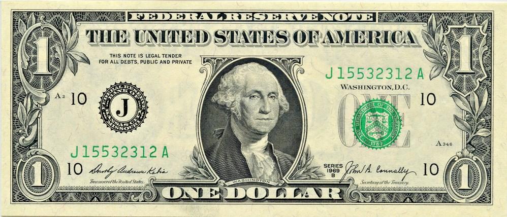 sample image for 1969B $1  Kansas City (Fr.# 1905J)