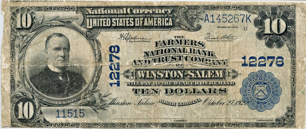 sample image for 1902 3rd Charter Period $10  Plain Back 3rd Issue (Fr.# 635)