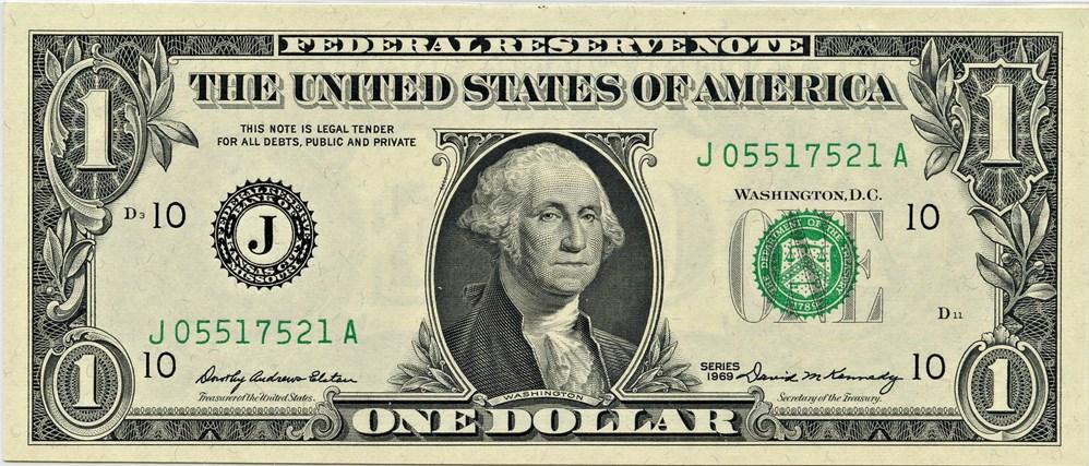 sample image for 1969 $1  Kansas City (Fr.# 1903J)