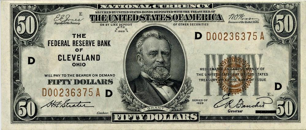 sample image for 1929 $50  Cleveland (Fr.# 1880D)