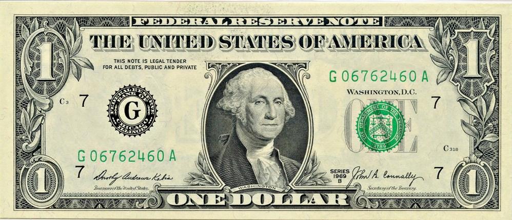 sample image for 1969B $1  Chicago (Fr.# 1905G)