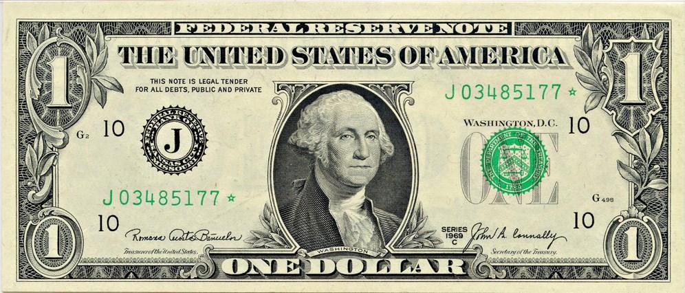 sample image for 1969C $1  Kansas City (Fr.# 1906J*)