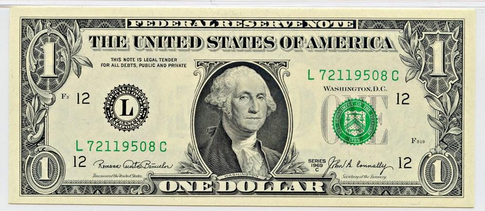 sample image for 1969C $1  San Francisco (Fr.# 1906L)
