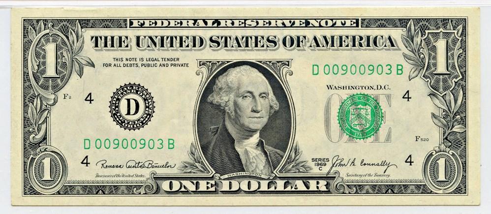 sample image for 1969C $1  Cleveland (Fr.# 1906D)