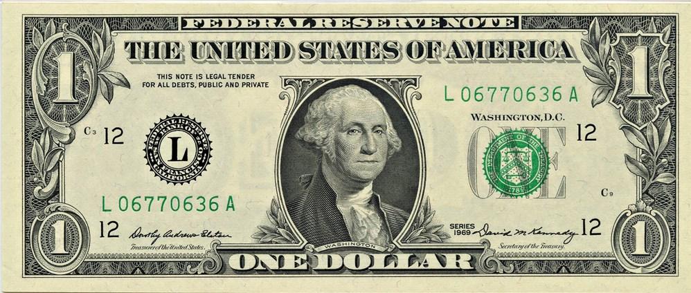 sample image for 1969 $1  San Francisco (Fr.# 1903L)