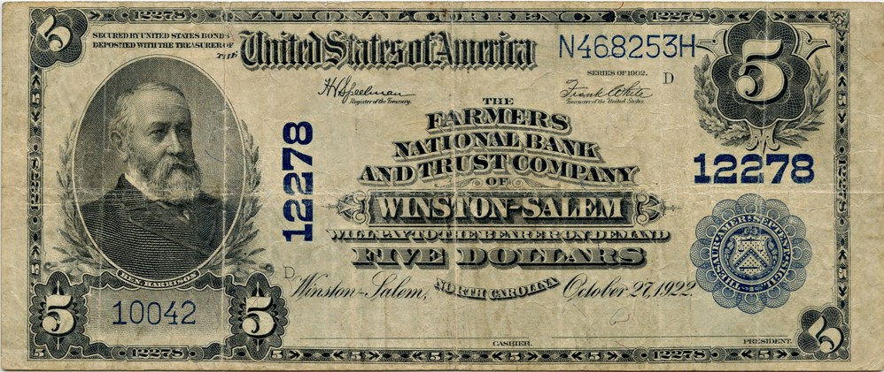 sample image for 1902 3rd Charter Period $5  Plain Back 3rd Issue (Fr.# 609)