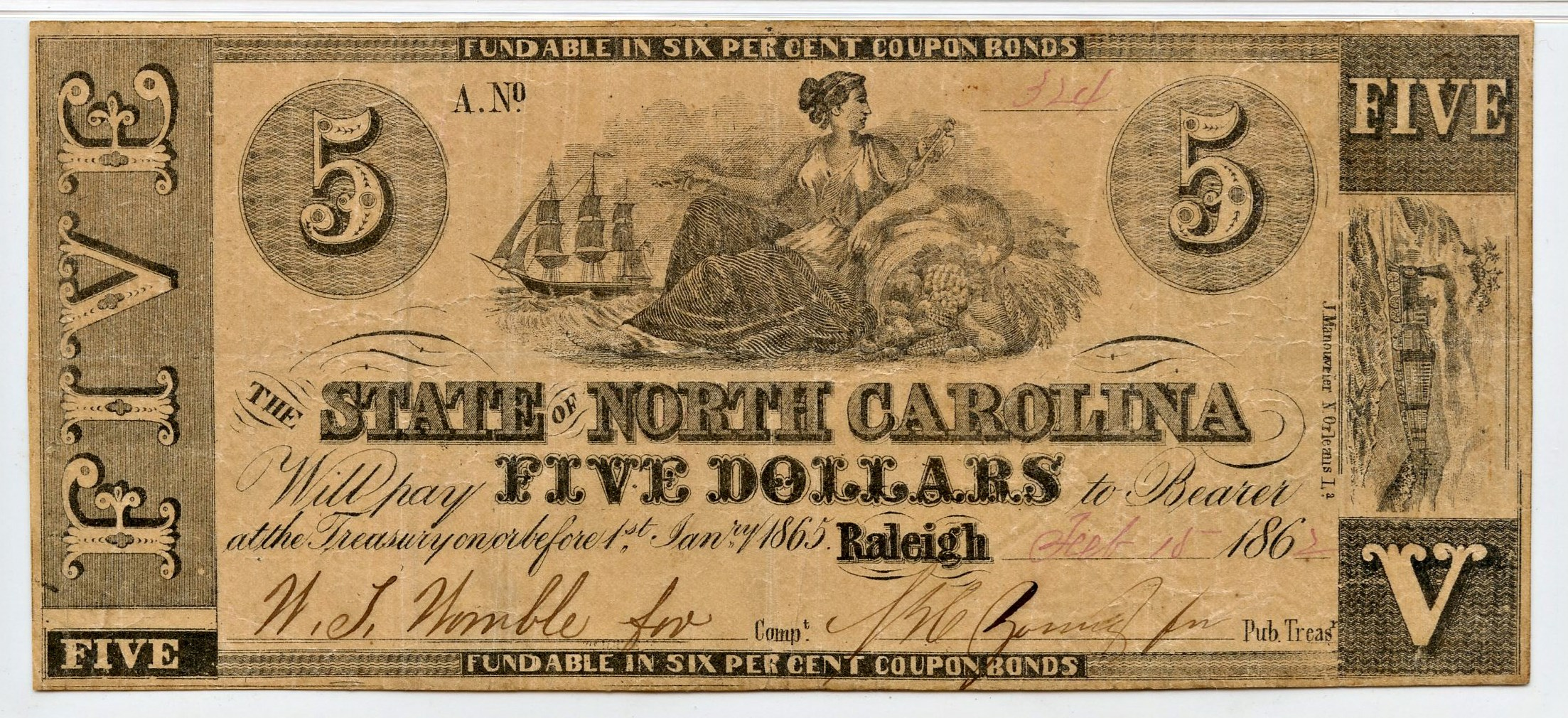 sample image for 1756-1757 dates hand written £20 (Fr.# NC85)