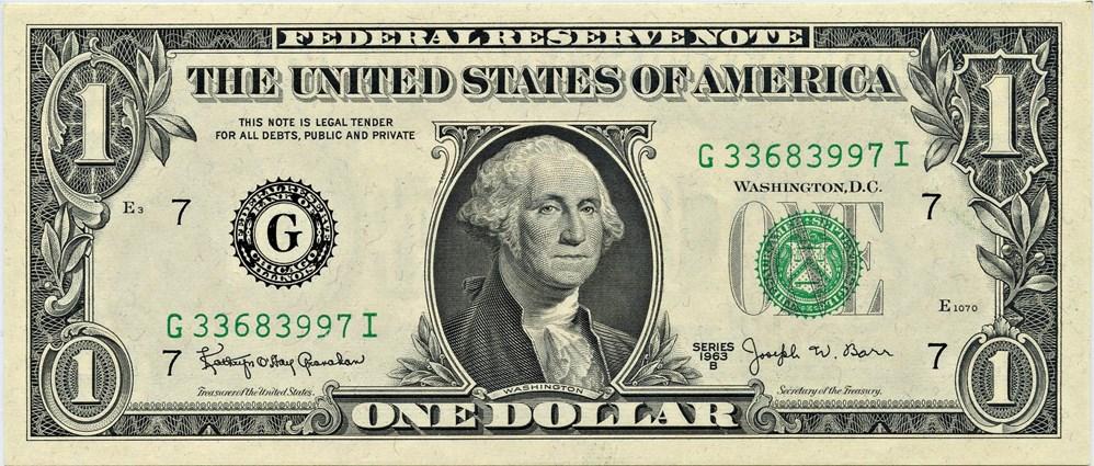 sample image for 1963B $1  Chicago (Fr.# 1902G)