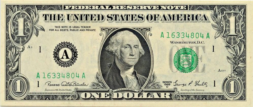 sample image for 1969D $1  Boston (Fr.# 1907A)