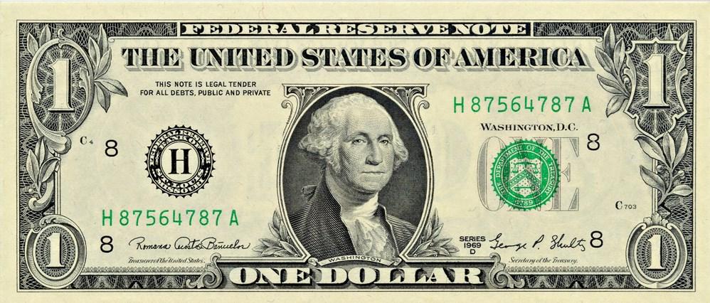 sample image for 1969D $1  St. Louis (Fr.# 1907H)