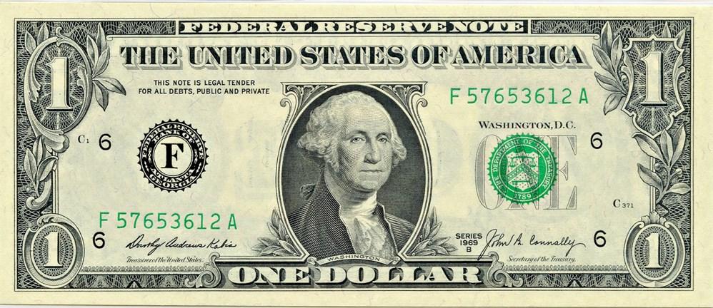 sample image for 1969B $1  Atlanta (Fr.# 1905F)