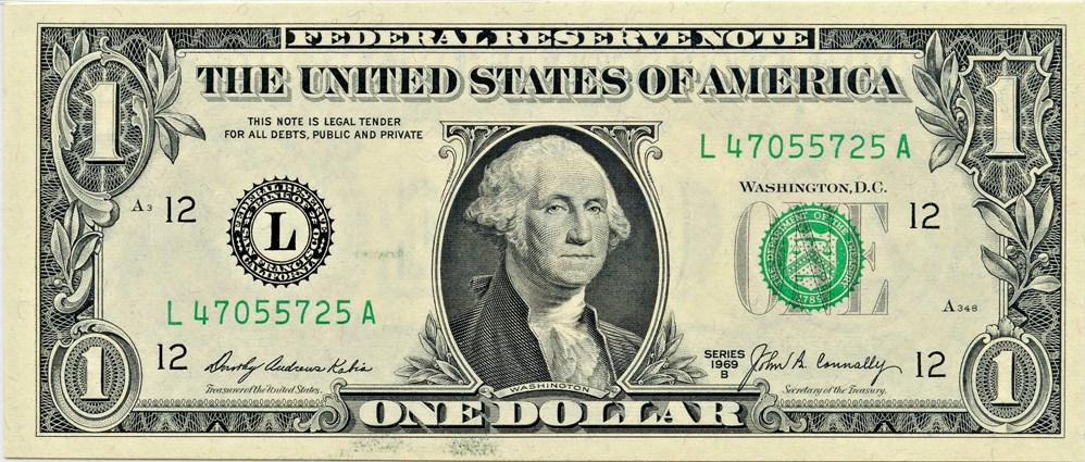 sample image for 1969B $1  San Francisco (Fr.# 1905L)