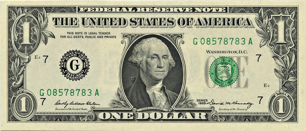 sample image for 1969 $1  Chicago (Fr.# 1903G)