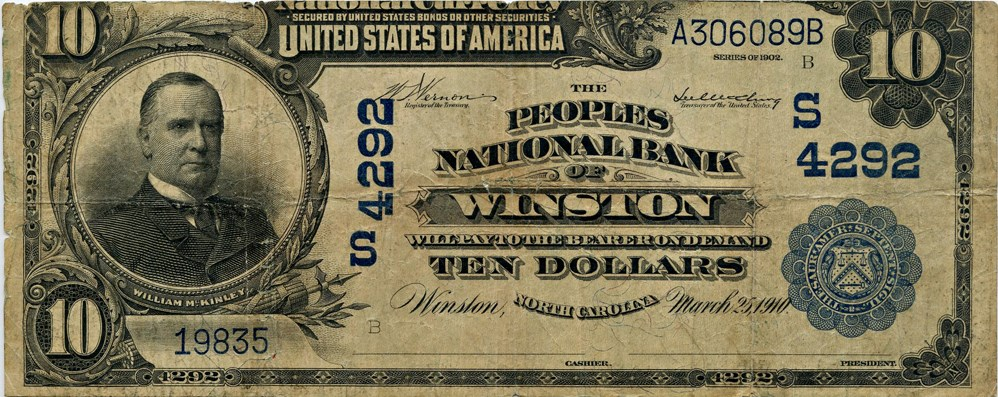 sample image for 1902 3rd Charter Period $10  Date Back 2nd Issue (Fr.# 619)