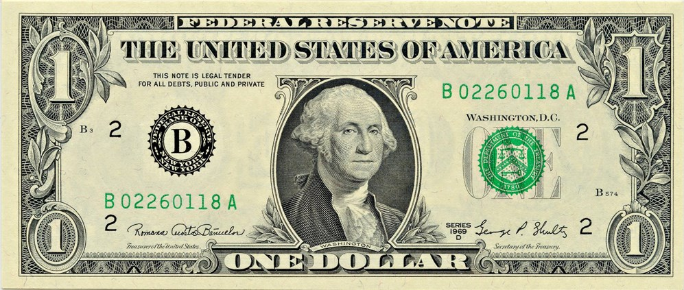 sample image for 1969D $1  New York (Fr.# 1907B)