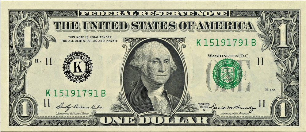 sample image for 1969A $1  Dallas (Fr.# 1904K)