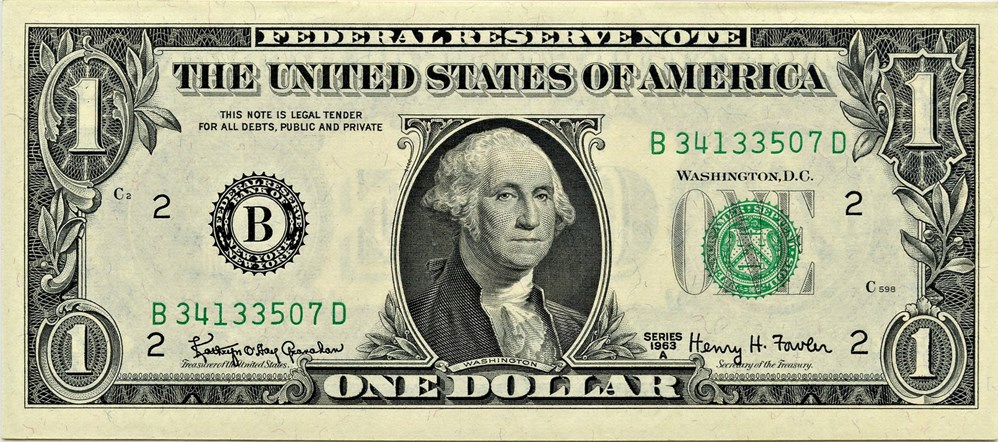 sample image for 1963A $1  New York (Fr.# 1901B)