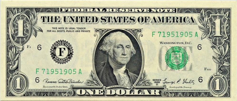sample image for 1969D $1  Atlanta (Fr.# 1907F)