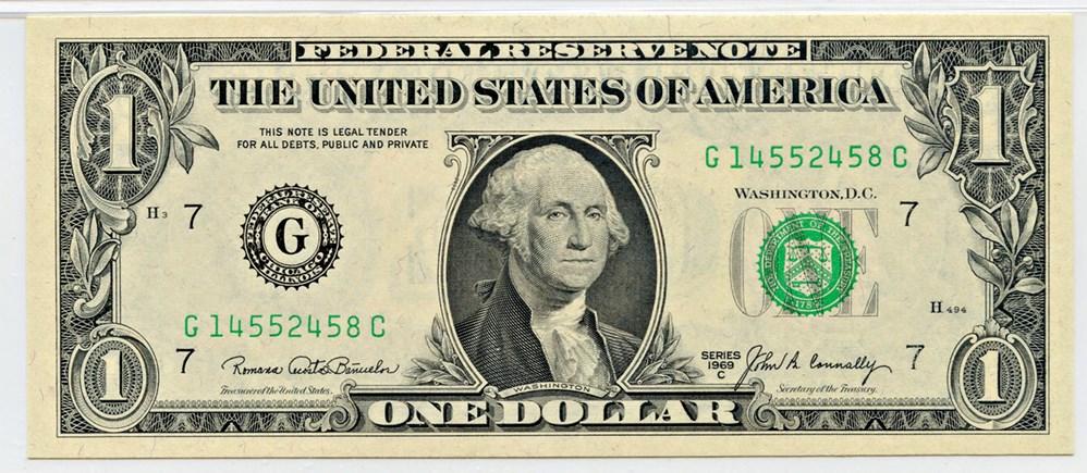 sample image for 1969C $1  Chicago (Fr.# 1906G)