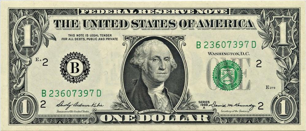 sample image for 1969A $1  New York (Fr.# 1904B)