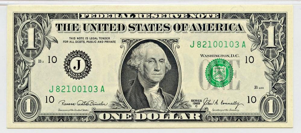 sample image for 1969C $1  Kansas City (Fr.# 1906J)