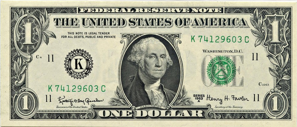 sample image for 1963A $1  Dallas (Fr.# 1901K)