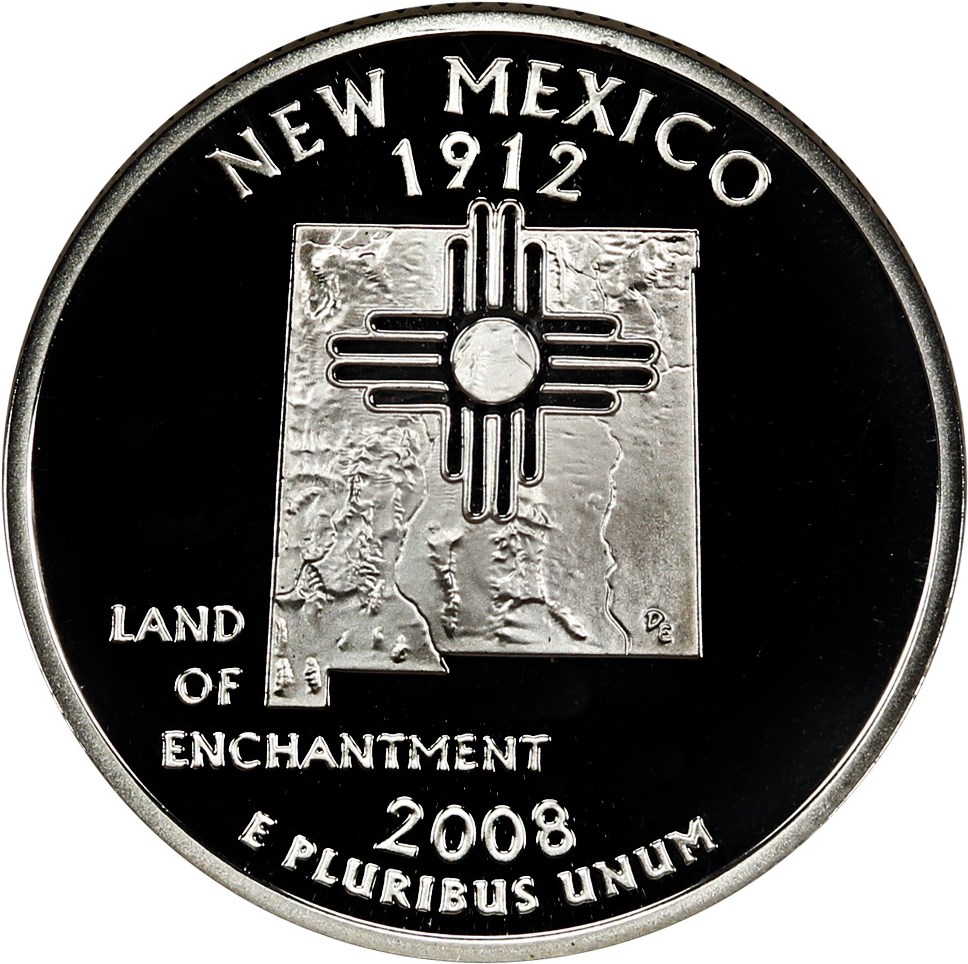 sample image for 2008-S New Mexico, Silver DCAM