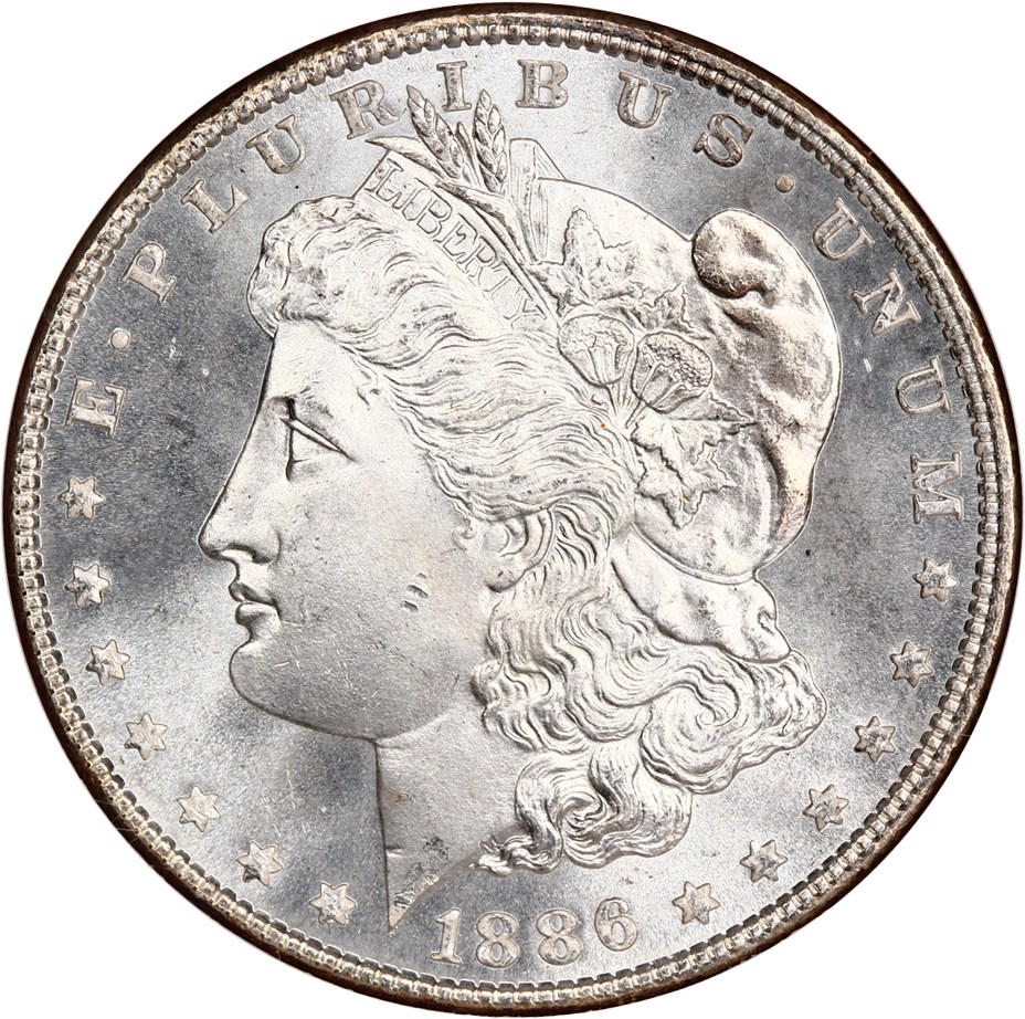 sample image for 1886 $1  MS VAM-17, Doubled Arrows
