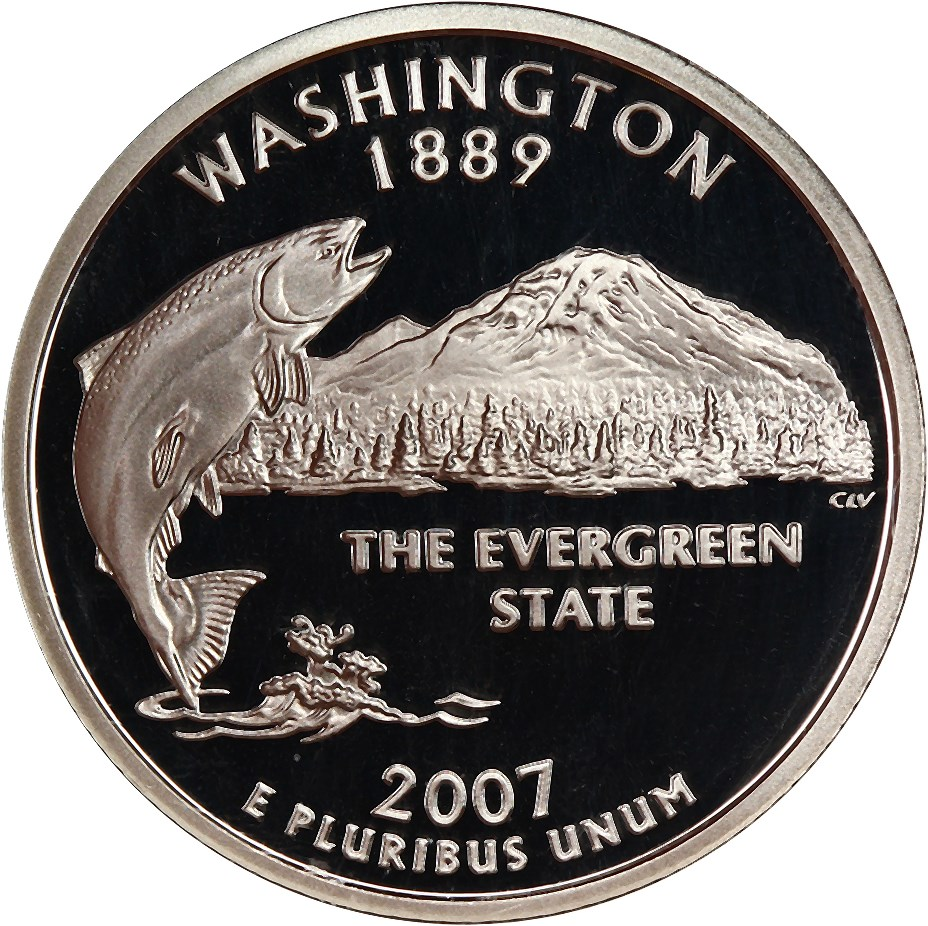 sample image for 2007-S Washington, Silver DCAM