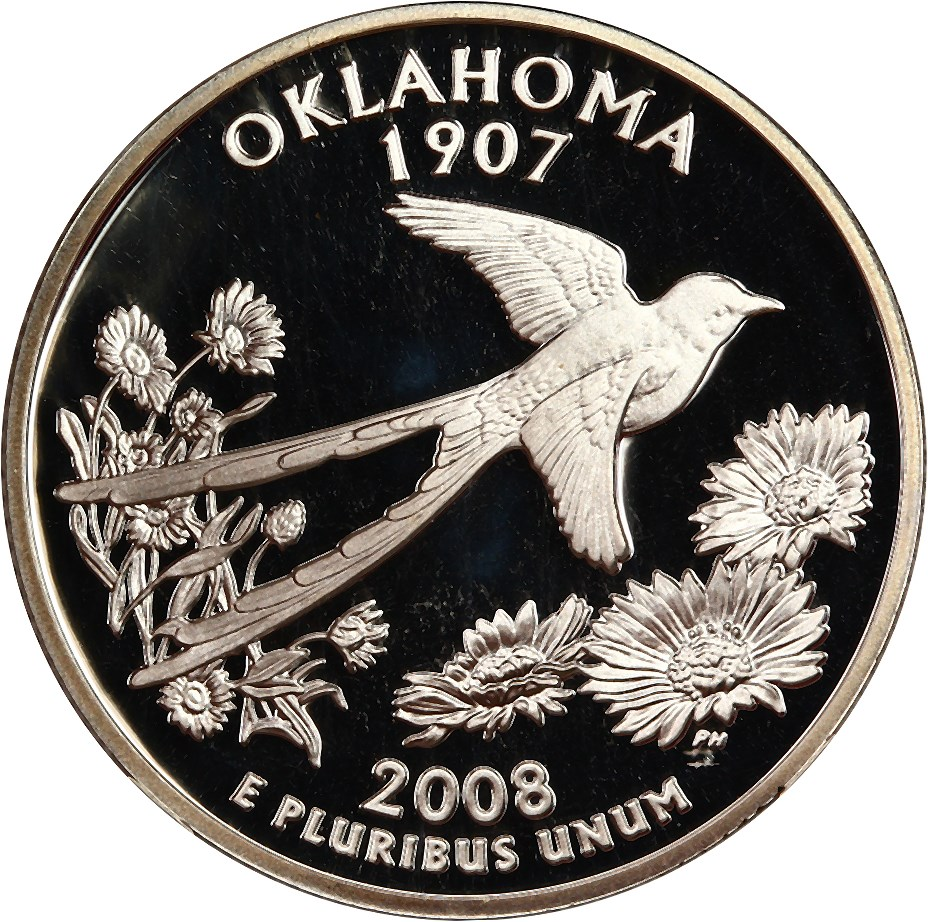 sample image for 2008-S Oklahoma, Silver DCAM
