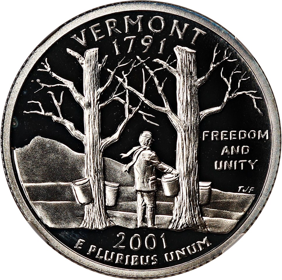 sample image for 2001-S Vermont, Silver DCAM