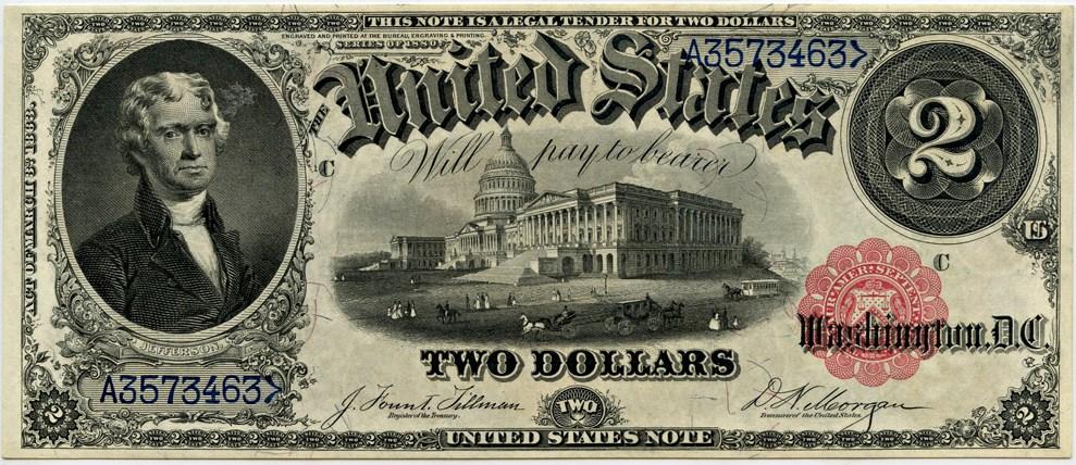 sample image for 1880 $2  (Fr.# 56)