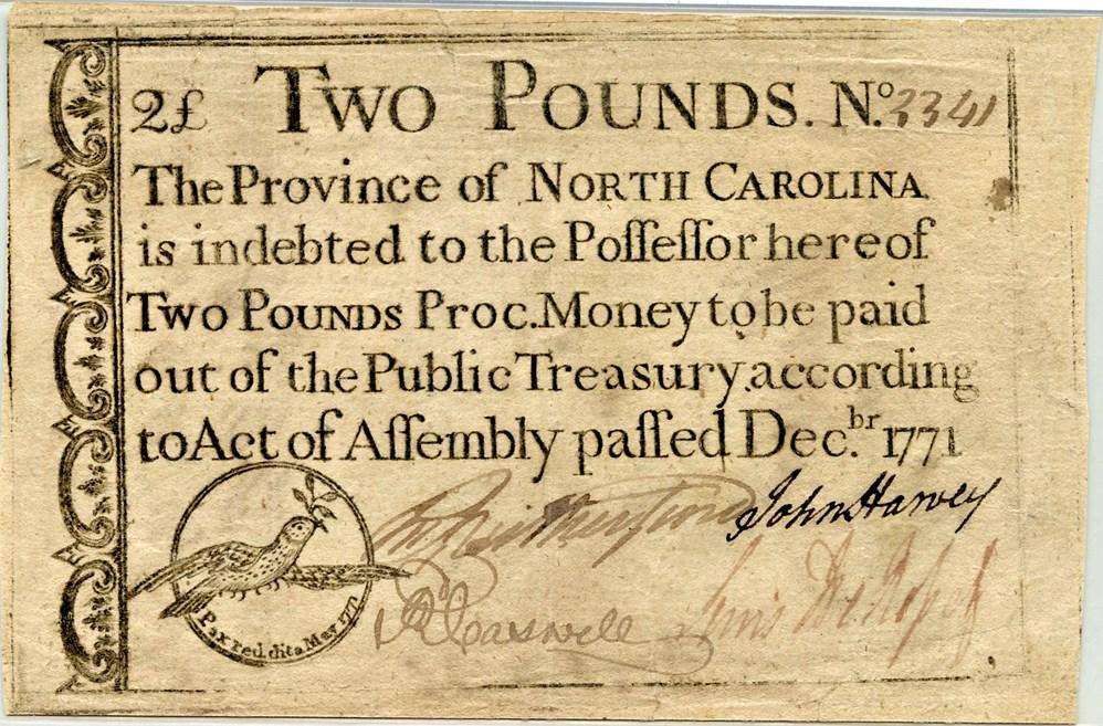 sample image for 1771 December £2 (Fr.# NC141)
