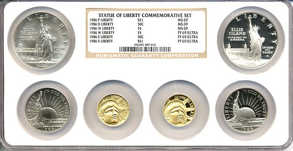 sample image for 1986 Statue of Liberty 6pc MS/PR