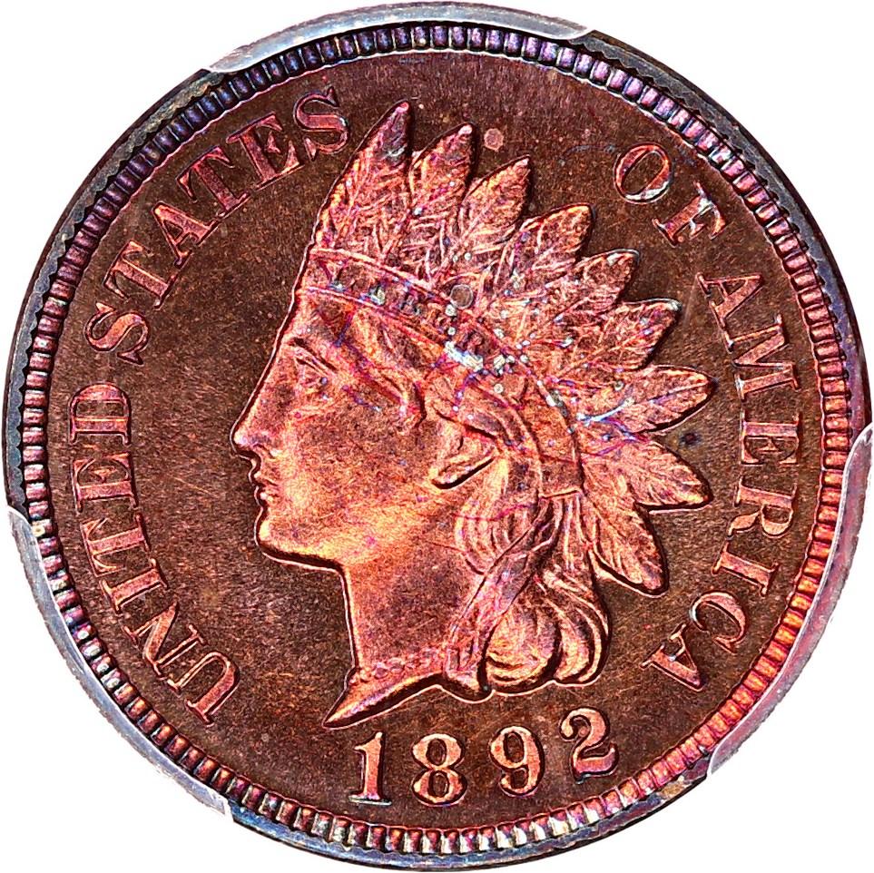 sample image for 1892 1c PR RB