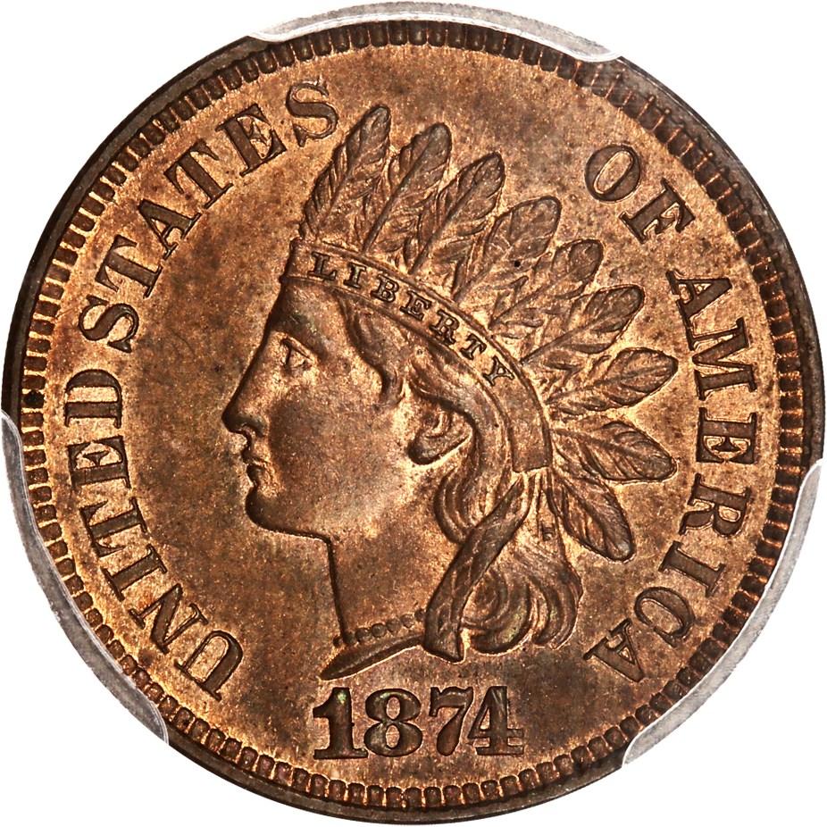 sample image for 1874 1c PR BN