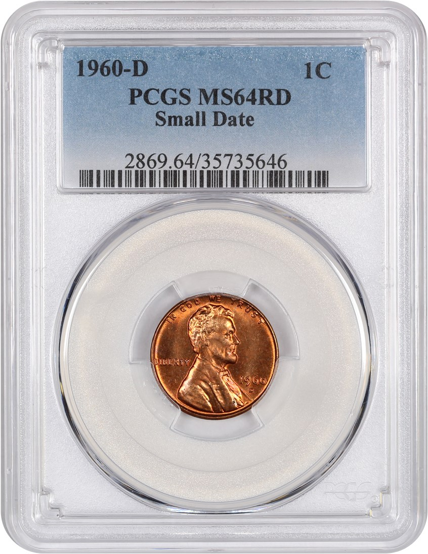 1c Memorial Penny 1960-D Small Date ICG MS67 RD Red Lincoln Cent
