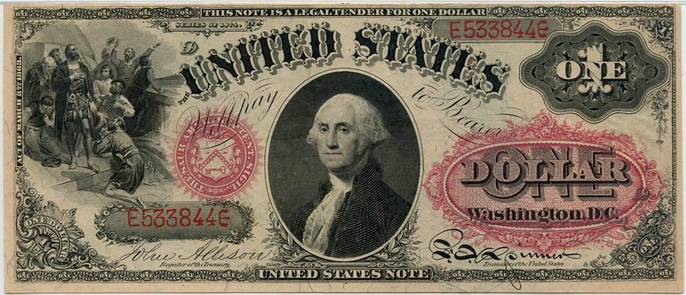 sample image for 1874 $1  (Fr.# 19)