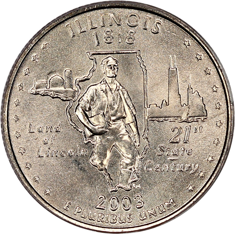 sample image for 2003-P Illinois 25c MS