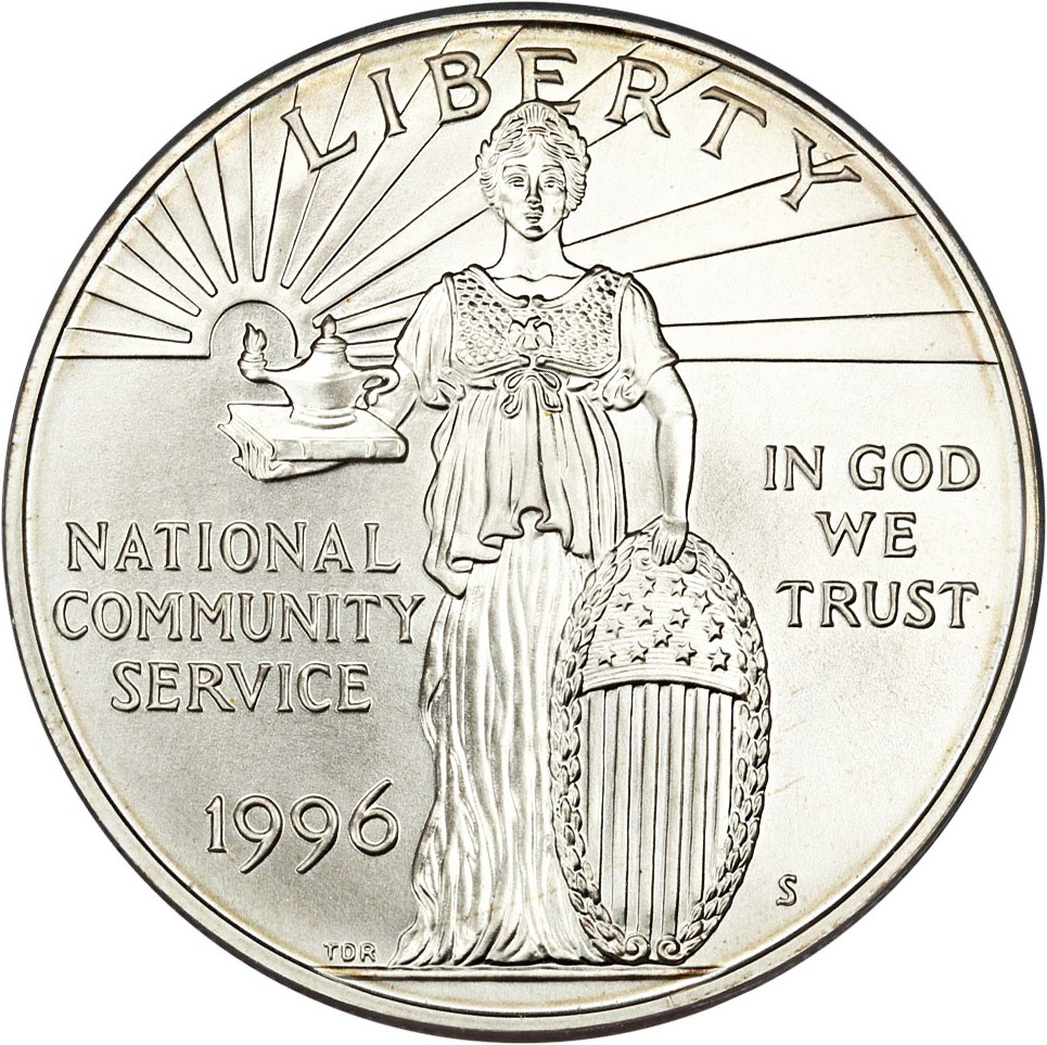 sample image for 1996-S National Community Service $1  MS