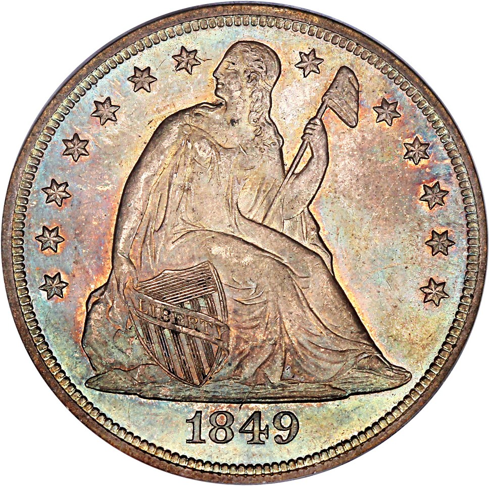 sample image for 1849 $1  MS