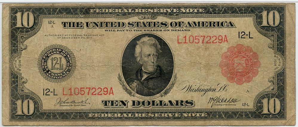 sample image for Fr.903A $10 SF RS