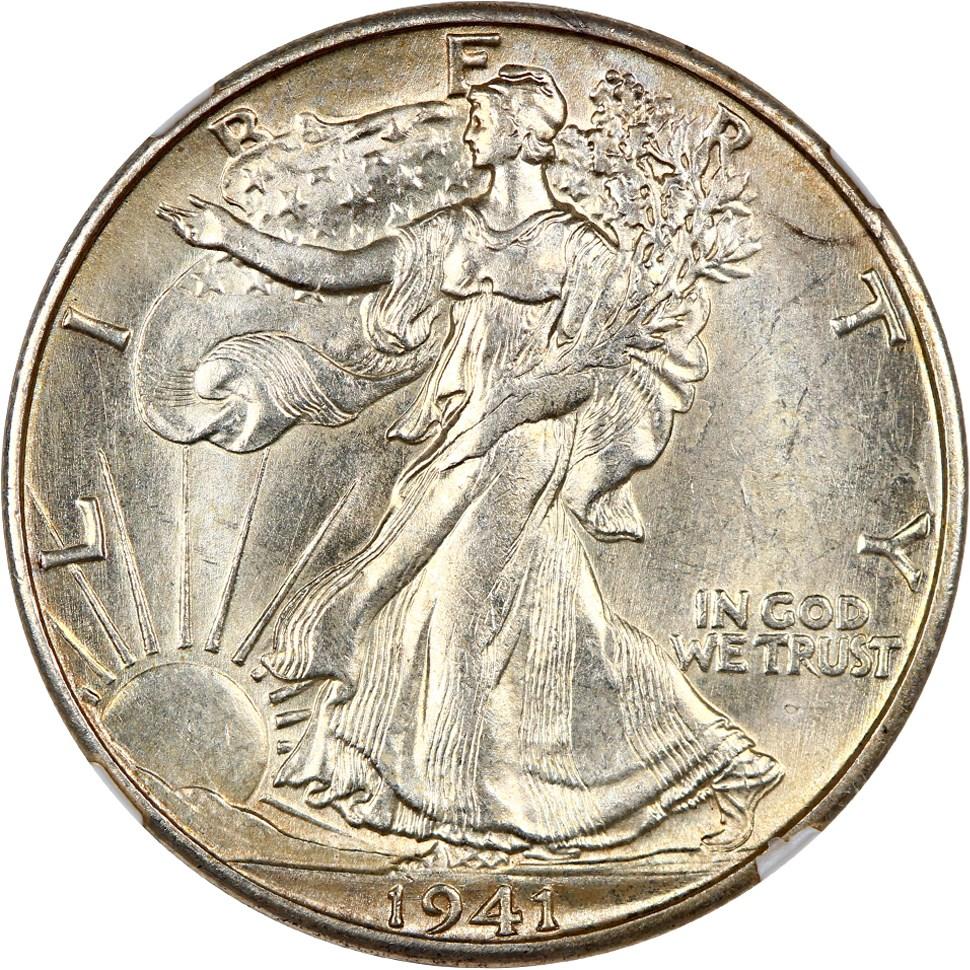 Circulated 90/% Silver Walking Liberty Half Dollars Lot of 10 1941-1947