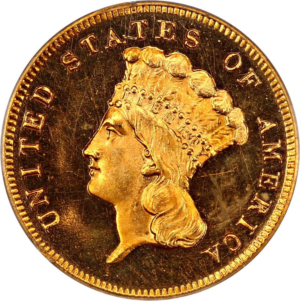 sample image for 1854-1889 $3  PR DCAM [Type]